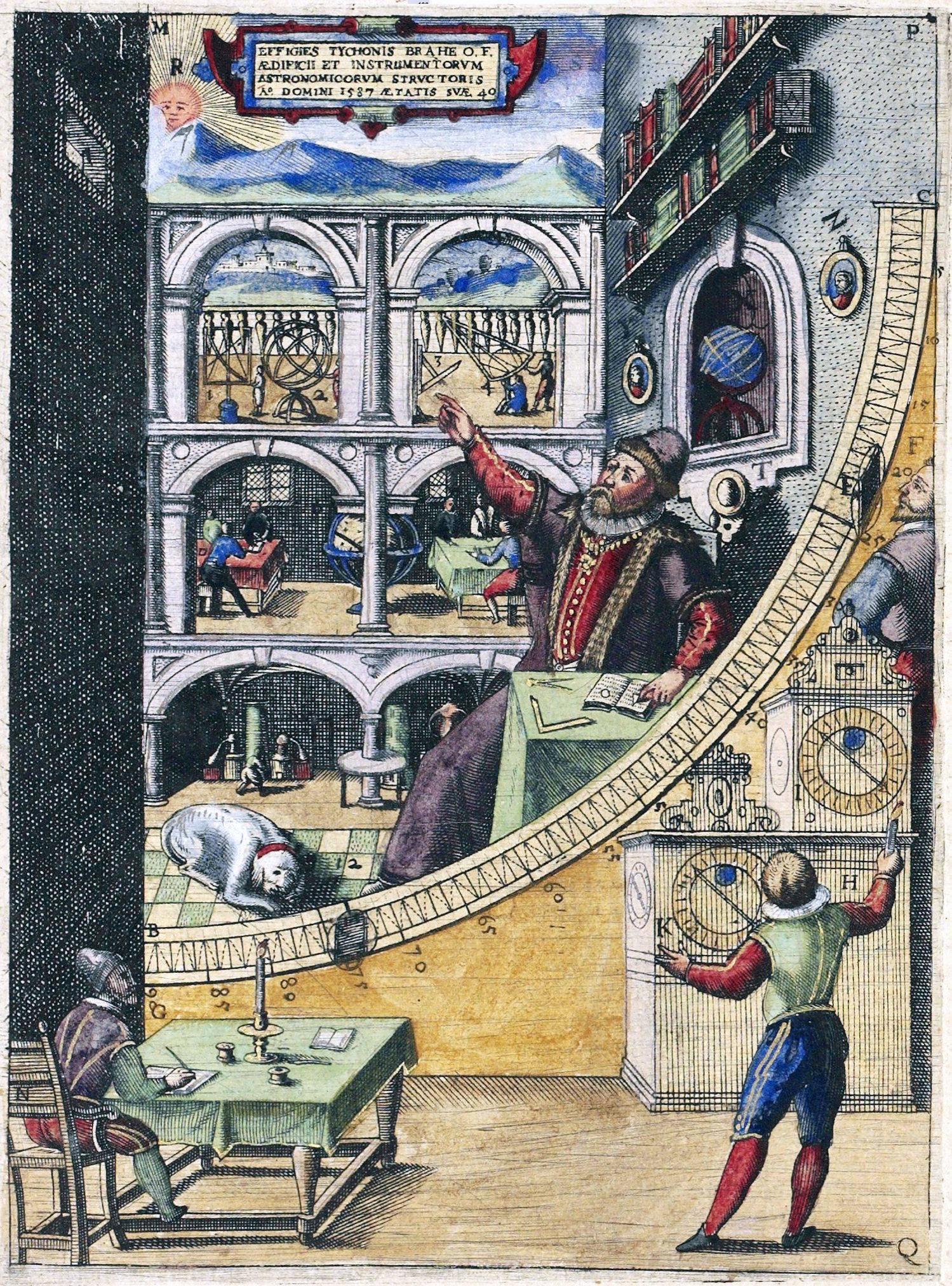 Tycho Brahe's mural quadrant in Uranienborg