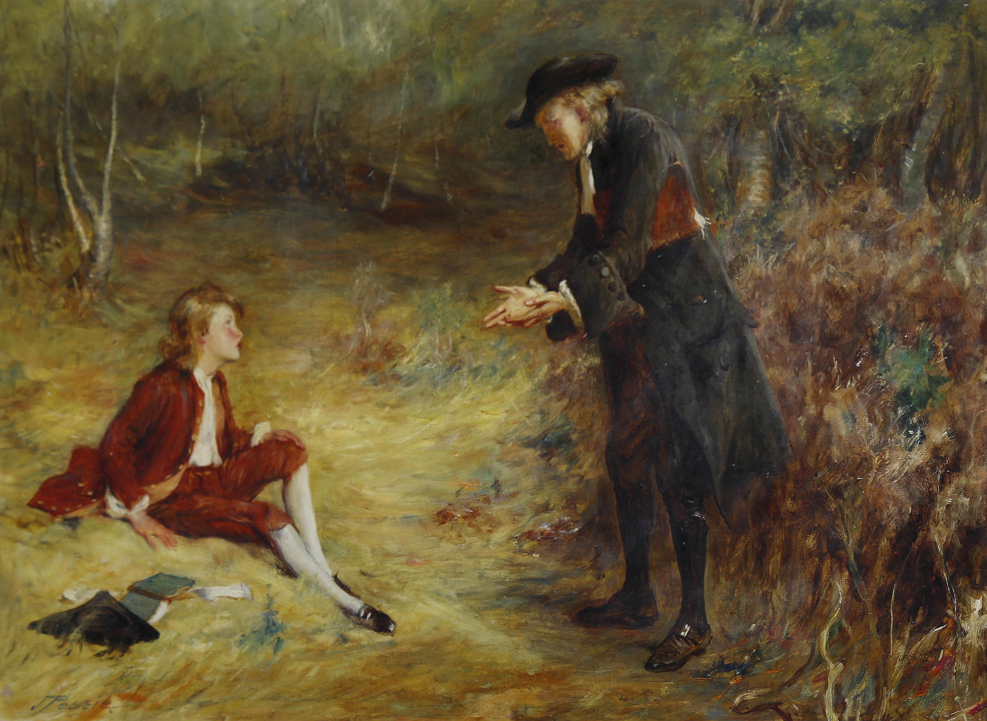 A Roadside Sermon by John Pettie