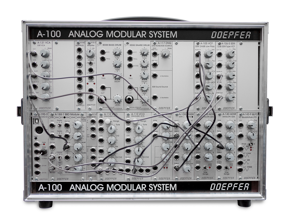 Representative modular synthesizer setup