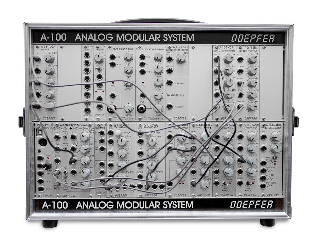 Representative modular synthesizer setup